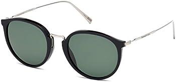 Ermenegildo Black Men's Round Sunglasses