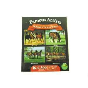 Karmin International Famous Artists Horse Collection 500-Piece Jigsaw Puzzle, 4-Pack