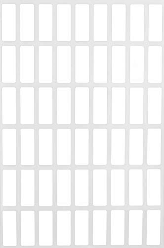White Color Coding Labels Rectangle Stickers Great for Identification and Labeling - 270 Pack by Royal - Labels White Rectangle Inventory