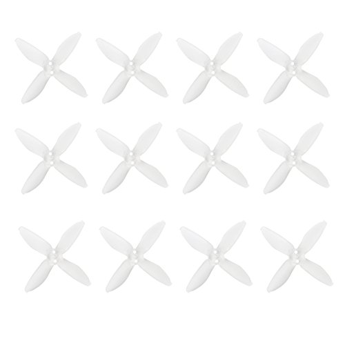 Emax AVAN Micro 2 Inch 4-blade Propeller for 11XX 4500-6500KV Motor DIY Multirotor Quadcopter Drone (Pack of 6Pairs) (transparent, 2035)
