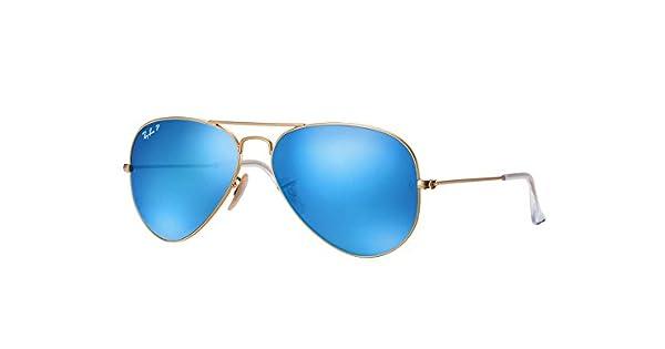 881c272f36 Lentes de Sol Ray Ban Modelo Aviator Flash Lenses, RB3025 112/4L-Azul  Polarizado: Amazon.com.mx: Ropa, Zapatos y Accesorios