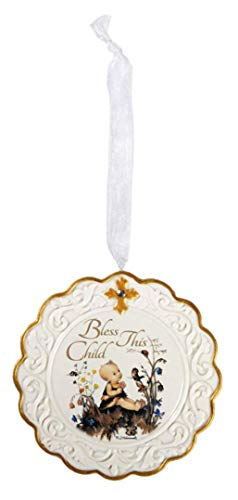 Hummel Bless This Child Baptism Porcelain Cradle Crib Medal ()