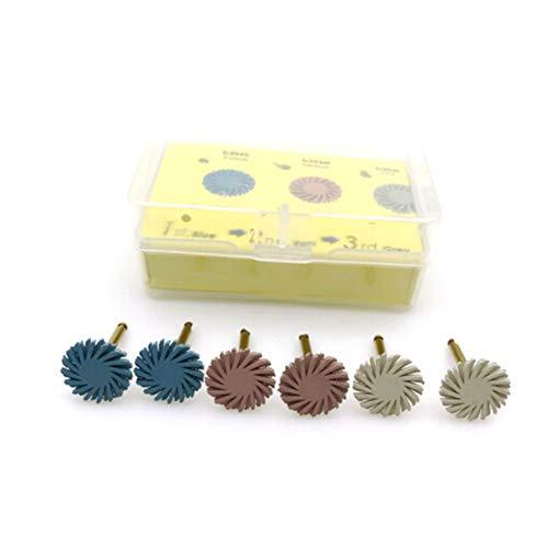 Resin Composite Dental Polishing Kit Spiral Disc Flexible Brush Drills 6pcs - Spiral Resin
