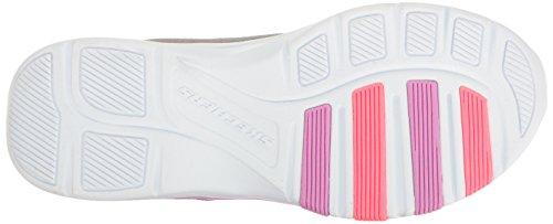 Skechers Kids Kids Trainer Lite-Bright Racer Sneaker Gray/Pink