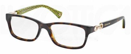 Coach HC6052 Fannie Eyeglasses 5232 Dk Tort Dk Tort Green Sig C 54 16 135