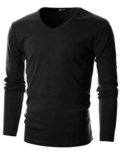 GIVON Mens Slim Fit Flice Cotton Long Sleeve
