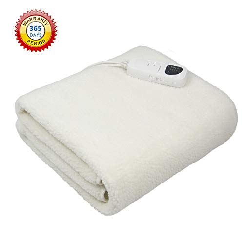 Deluxe Massage Table Warmer Heating Pad –Bed Warmer Pad Digital Timer and Digital Heat Setting-Synthetic Wool Fleece