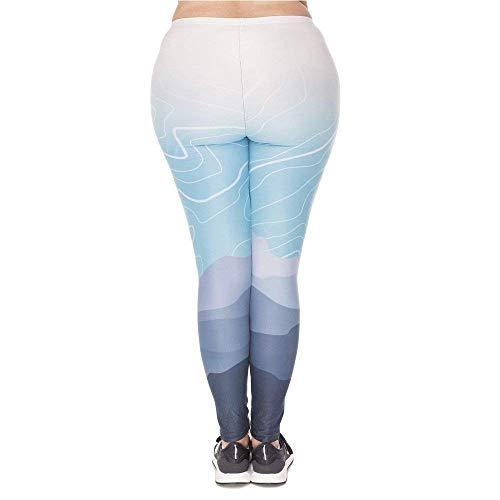 Leggings Women Stampato Wild Moda Plus Chic Di Pantaloni Mountain Leggins Yoga Plump Ragazza A Stretch Vita Alta Lgd45768 Pants wn4SqYf