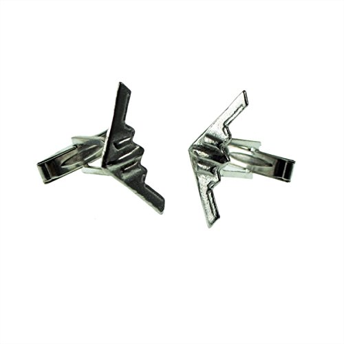 Gtr Men's Cufflinks XDCL009 English Made Stealth Bomber Aircraft Pewter Cufflinks In Leatherette Box ()