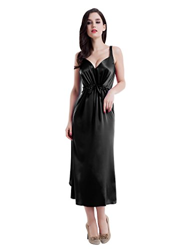 Sweetheart neckline tulip hem 22 momme silk nightgown lady sleepwear by Fairylotus