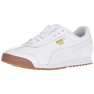PUMA Men's Roma Classic Gum Sneaker, White-teamgold, 12 M US