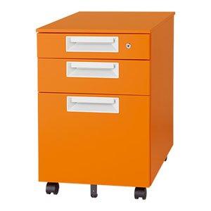 Garage スチール製カラーワゴン 3段 カラーマルシェ SH-046SC-3 マンダリンオレンジ B015XOLGPU マンダリンオレンジ マンダリンオレンジ