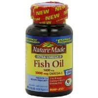Nature Made Ultra Omega-3 Fish Oil Softgels, 1400 Mg, 45 Count