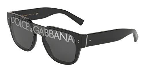 Dolce&Gabbana DG4356 Sunglasses 501/M-22 -, Dark Grey Tampo Deg Silver DG4356-501-M-22 (Dolce Und Gabbana Herren Aviator Sonnenbrille)