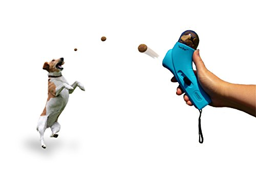 FurHaven Pet Food Thrower | Snack Slinger Treat Dog Activity Toy, Light - Treat Launcher