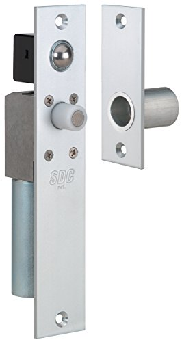 SDC FS23MIQ Spacesave Bortise Bolt Lock, Fits 1-3/4'', Dual Failsafe, 12/24 VDC, Dull Chrome by SDC