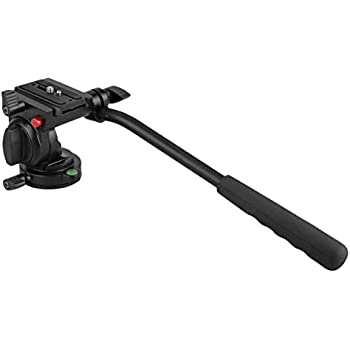 """Kamisafe KINGJOY KH-6750 Flexible Aluminum Camera Tripod Head Fluid Video Tripod Head for Canon, Nikon and Other DSLR Cameras with 1/4"""" Thread, Tripods and Monopods with 3/8"""" Thread"""