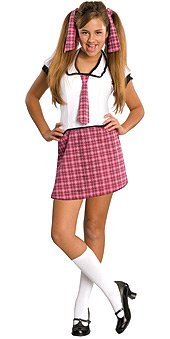 [Love Bug School Girl Tween Costume - Tween Small] (Teen School Girl Costumes)