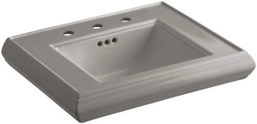 8 K4 Cashmere Memoirs Pedestal - KOHLER K-2239-8-K4 Memoirs Pedestal Bathroom Sink Basin with 8