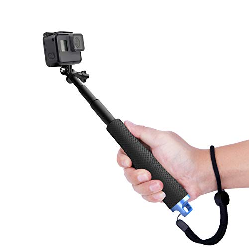 (Luxebell Selfie Stick Telescopic Pole Pocket Purse Size for Gopro Hero 7 6 5, Session 4/3+/3/ AKASO EK7000 V50 Pro Brave 4 Dragon Crosstour Campark DJI OSMO Action Camera and 7