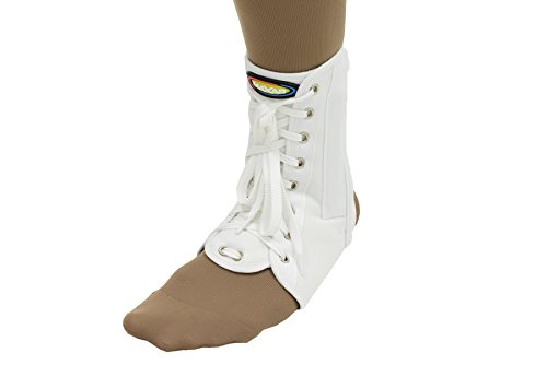 Maxar Canvas Ankle Brace (with Laces), Large, - Lace Up Canvas Brace Ankle