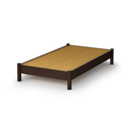 South Shore Sandbox Collection 39-Inch Twin Platform Bed, Chocolate (Twin Maple Bunk Bed)