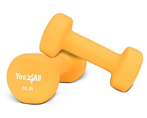 Neoprene dumbbells set of 1-pair: 8 lbs (16 lbs total) - ²DSAXZ