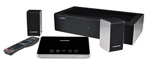 Blaupunkt LS 240-1 Hometheatre mit kabellosem Subwoofer, 750 Watt Musikleistung, Aluminium Gehäuse, schwarz