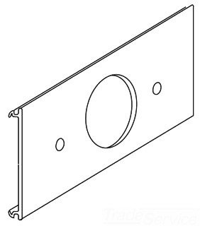 Ala-J Wiremold Single Rcpt Cover Plate