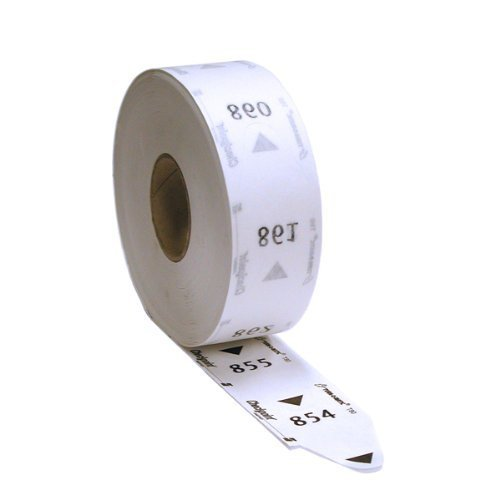 Three-digit Turn-O-Matic T80 White Take-a-Number tickets (1 roll of 3000 tickets) for D80 Ticket Dispenser. (Number Ticket)