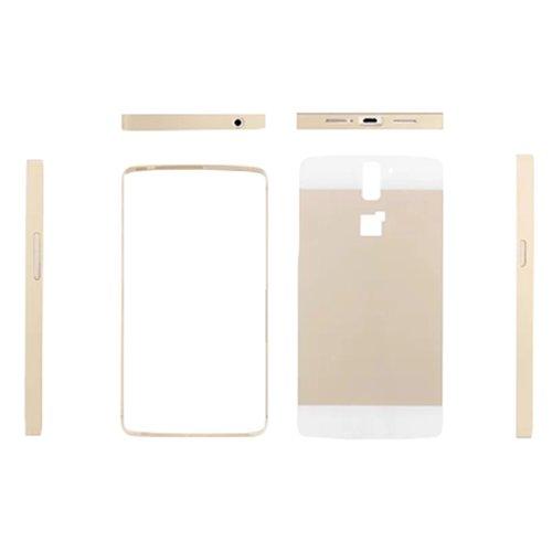 E8Q de lujo marco de metal caso de parachoques de la PC de nuevo caso cubierta protectora para Oneplus One A0001 Plata