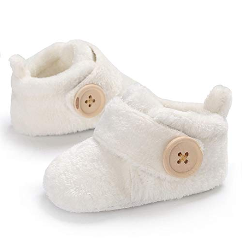 Pictures of Fnnetiana Infant Baby Plush Slippers Indoor Bedroom 2