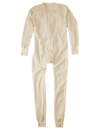 Hanes Men's Thermal Union Suit,Natural,US 4XL