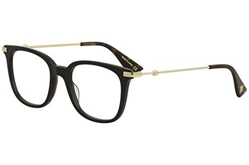 Eyeglasses Gucci GG 0110 O- 001 BLACK/GOLD