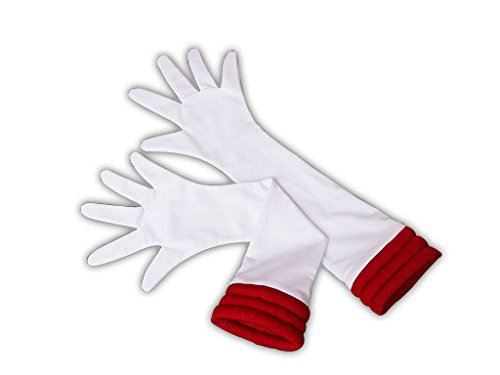 SDWKIT Japanese Anime Bishoujo Senshi Sailor Moon SuperS Cosplay Accessory Sailor Mars Hino Rei White Gloves (Sailor Moon Costume Accessories)