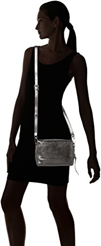 Liebeskind Berlin Syracusew7 Memila - Bolsos bandolera Mujer Plateado (Rock Grey Metallic)