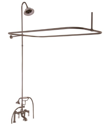 (Barclay 4063-PL-BN Universal Code Rectangular Shower Unit with Elephant Spout and Lever Handles)