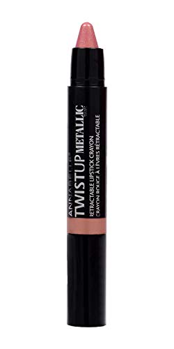 Annabelle TwistUp Metallic Retractable Lipstick Crayon, Nude of Fame, 0.05 oz
