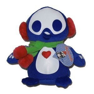 Skelanimals 6 Blue Pen the Penguin Plush - Holiday Edition by - Pen Penguin Skelanimals