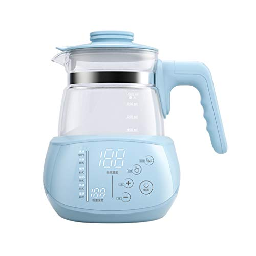 Price comparison product image 1L Electric Kettle Formula Warmer Glass Coffee Pot,  Baby Bottle Warmer,  Water Bath LCD Monitor 24H Baby Food Intelligent Thermostatic,  Blue