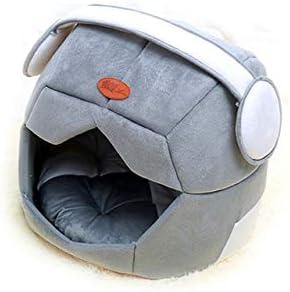 Tienda de campaña Plegable Casco espacial Cama transpirable para perros Casa plegable para mascotas Casa de la perrera Diseño único Uso doble Gato suave Cojín para perrito