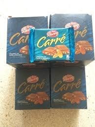 Amazon.com : Carre Autentico Chocolate Savoy Venezolano 1 Box, 10 Bars (Almonds) : Grocery & Gourmet Food