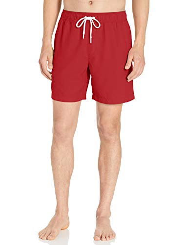 Amazon Essentials Herren Badehose 17,8 cm, Red, US M (EU M)