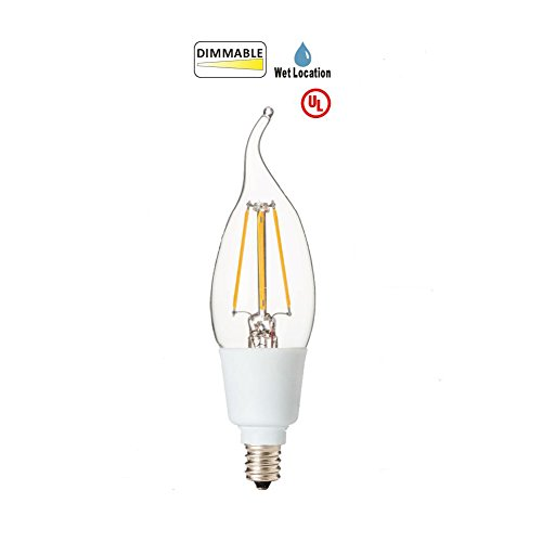 led2020 led b11 dimmable candle filament bulb  4 5w to