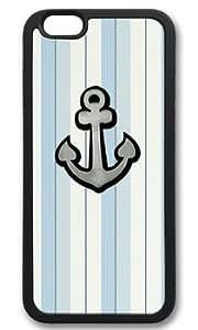 Anchor On Light Color Stripe DIY Rubber Black iphone 6 plus Case On Custom Service