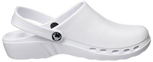 Suecos® Oden, Zuecos de Trabajo Unisex Adulto Blanco (White)