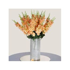 18 to 27 Peach Delphinium Stems Filler Silk Wedding Flowers Bouquet Centerpieces 77