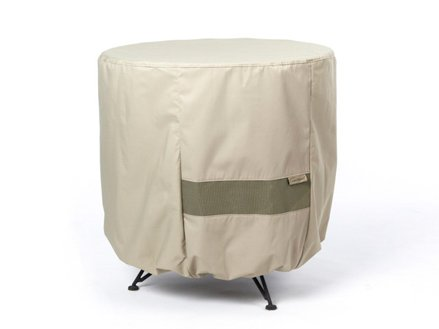 Covermates - Outdoor Patio Round Accent Table Cover 24DIAMETER x 18H - Elite Collection - 3 YR Warranty - Year Around Protection - Khaki
