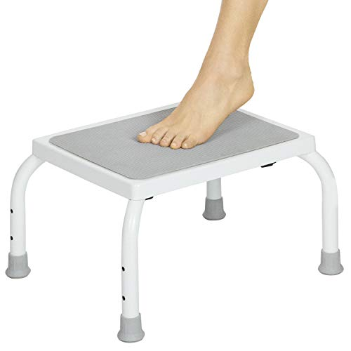 - Vive Bariatric Foot Stool - Heavy Duty Step Stool for Adults and Kids - Foot Platform for Kitchen, Bedroom, Bathroom - One Portable, Medical, Lightweight Step for Elderly Child, Senior, Handicap