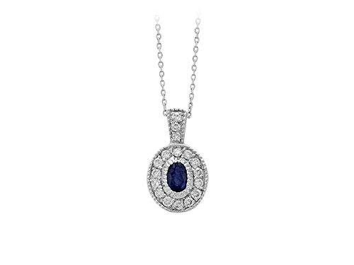 Collier Saphirs et Diamants-Femme- or Blanc 207P0014